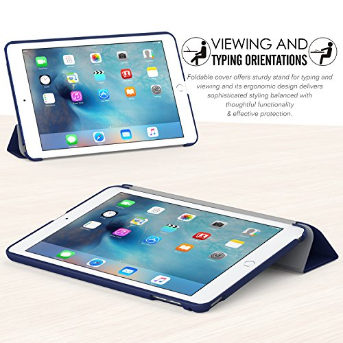 MoKo Case Fit iPad Mini 4 - Slim Lightweight Smart Shell Stand Cover Case with Auto Wake/Sleep Fit iPad Mini 4 (2015 Edition) 7.9 inch iOS Tablet, Indigo