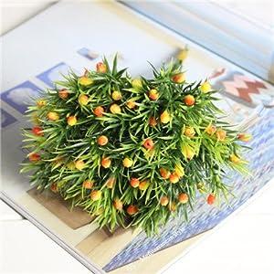 Erovy - Home Decora 6 Pcs/lot Artificial Flower Plastic Plants Home Arrangements Wedding DIY Decoration 63