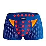 VKWEIKU 11th Generation 2017 Men's Pennis enlargement Underwears Magnetic Micromodal Trunks Therapy Boxer Briefs (Black, Asian Size 4XL)
