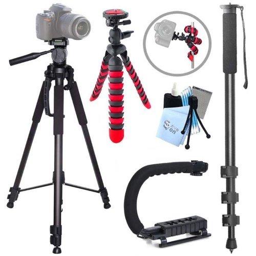 Action Tripod Kit for Nikon D5200, D5300, D7100, D7000, 1 J1, 1 J2, 1 J3, 1 S1 Includes: Professional 3-Way Panhead 70