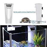 Aquarium Waterfall Filter Reptiles Turtle Filter, Low Level Water Clean Pump Internal Bio