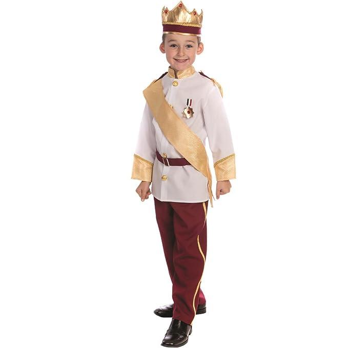 Dress up America - Disfraz de príncipe Real para niños,, Talla XS ...