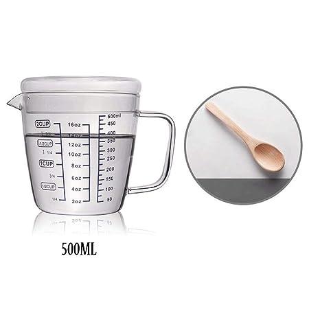 JAG Vasos de medición de Vidrio Resistente al Calor Vaso de ...