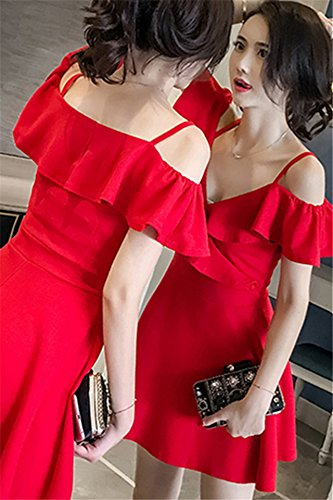 a12fc9dc8012 Amazon.com   Night female models dress feminine clothes sling female summer  temperament ladies dress 2018new small Lu Xiangjian for women girl   Beauty