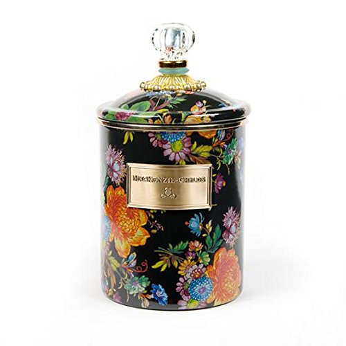 MacKenzie-Childs Flower Market Canister - Stainless Steel Floral Enamel - Multicolor, Medium Kitchen Jar with Lid 5