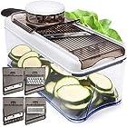 Adjustable Mandoline Slicer - 5 Blades - Vegetable Cutter, Peeler, Slicer, Grater