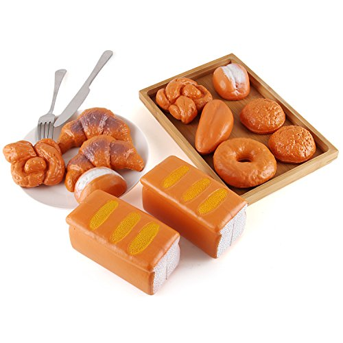 Buy Bread: Liberty Imports Life Sized 12 Piece Bread Set Pretend Play