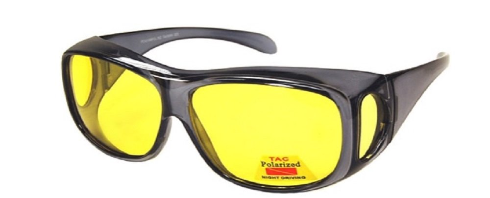 1 Pair Polarized Night Driving Fit Over Size Large - 43199 Black