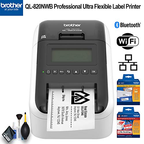 Brother QL-820NWB Professional Ultra Flexible Label Printer - Essential Bundle by Brother (Image #4)