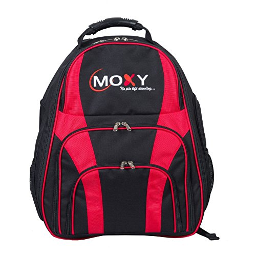 Moxy Duo Backpack Bowling Bag- Black/Red by Moxy Bowling Products