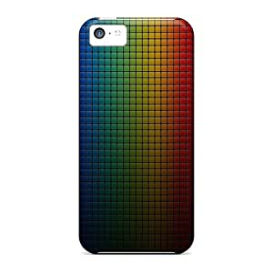 Iphone 5c Case, Premium Protective Case With Awesome Look - Colorful Dark Grid
