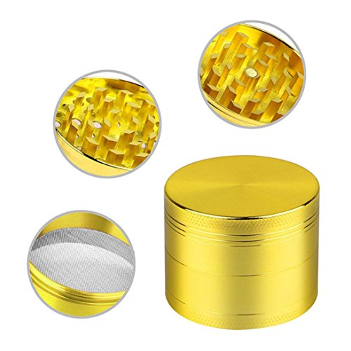 Price comparison product image NXDA 4-layer Aluminum Herbal Herb Tobacco Grinder Smoke Grinders (A)
