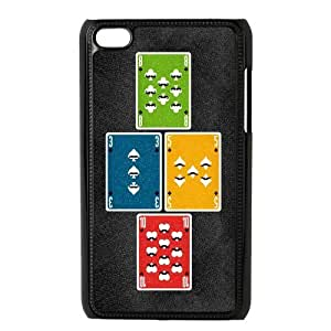 Custom Your Own Personalized Mustache Poker Ipod Touch 4 Case, Snap On Hard Protective Mustache Ipod 4 Case Cover