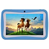 Kids Tablet PC, 7'' HD Eyes-Protection Screen Android 7.1 1GB RAM 8GB ROM Tablet with WIFI Kids Software Pre-Installed (Blue)