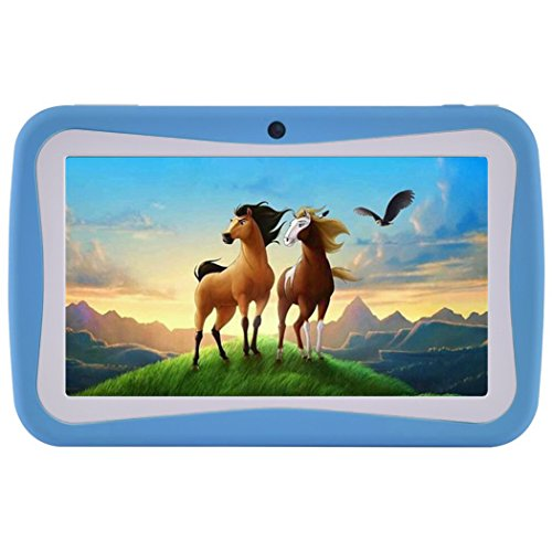 Kids Tablet PC, 7″ HD Eyes-Protection Screen Android 7.1 1GB RAM 8GB ROM Tablet with WIFI Kids Software Pre-Installed (Blue)