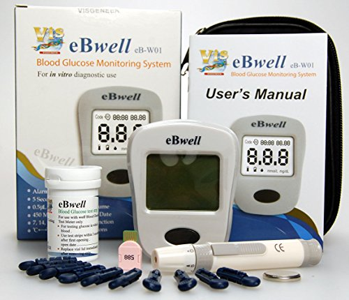 eBwell eB-W01 Blood Glucose Monitor starter pack Ideal