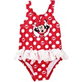 : Disney Minnie Mouse Baby Girl Tutu 1-Piece Polka Dot Swimsuit 24 Months