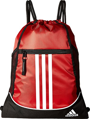 adidas Alliance II Sackpack-Power Red/Black/White, One Size