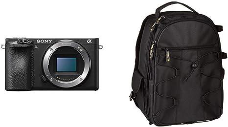 Sony Alpha ILCE6500B - Cámara (24.2 MP, 11fps, 5 Ejes, AF de 0.05 ...