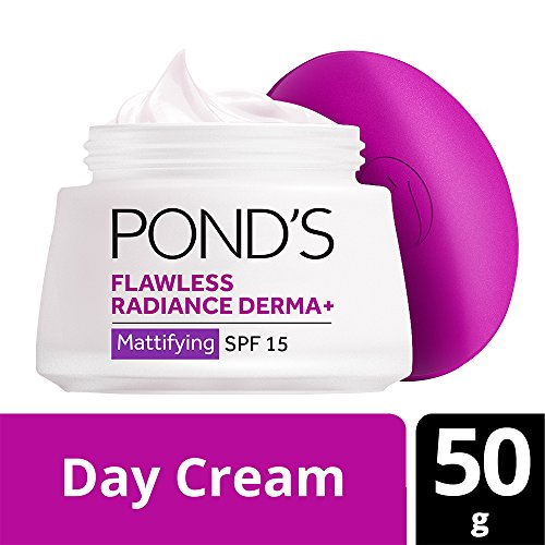 Pond's Flawless Radiance Derma+ SPF 15 PA+++ Mattifying Day Cream, 50g (Best Dd Cream In India)