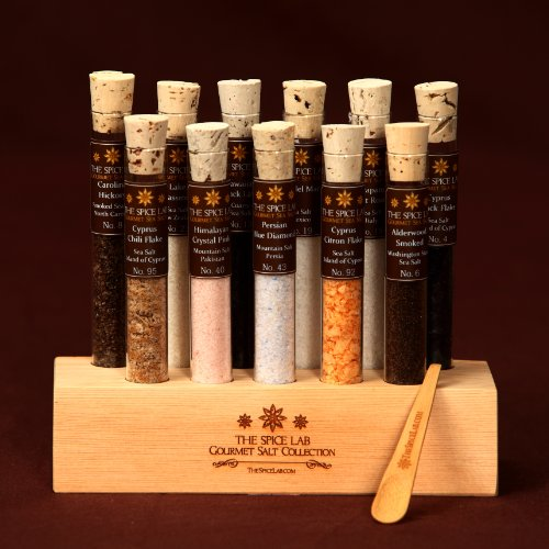 Gourmet Sea Salt Tasting Set No. 2 - 11 Finishing Salts - Great starter set. Impress your friends, Great House Warming Gift