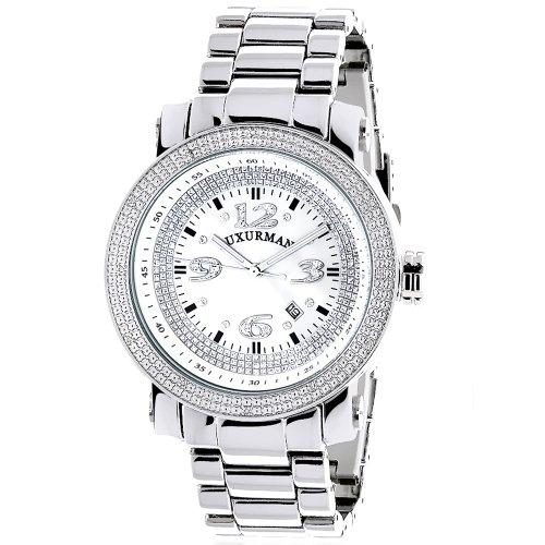 (Mens Diamond Watch 0.12 ct Iced Out LUXURMAN)