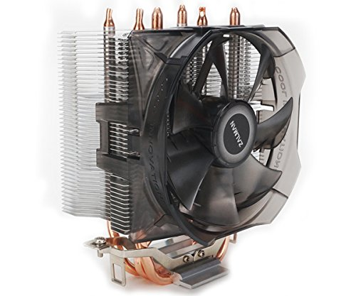 Zalman CPU Cooler with Direct Tough Heatpipe Base and Shark Fin Fan Cooling, Silver, (CNPS8X Optima) by Zalman (Image #2)