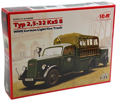 (ICM Models Type 2,5-32 KZS 8 WWII German Light Fire Truck Model)