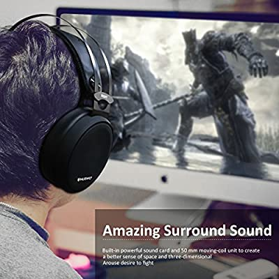 Computer Headphone, ELEGIANT Xbox PS4 Gaming Headset with Noise-Cancelling Mic PC Gaming Headphones, Soft/Lightweight Design Over-Ear Gaming Headset for Nintendo switch PS4 Xbox PC Laptop Mac-Black