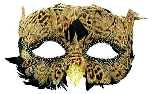 Touch of Nature Feathered Owl Half Mask
