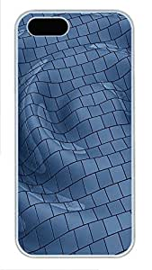 iPhone 5 5S Case Patterns Rippled PC Custom iPhone 5 5S Case Cover White