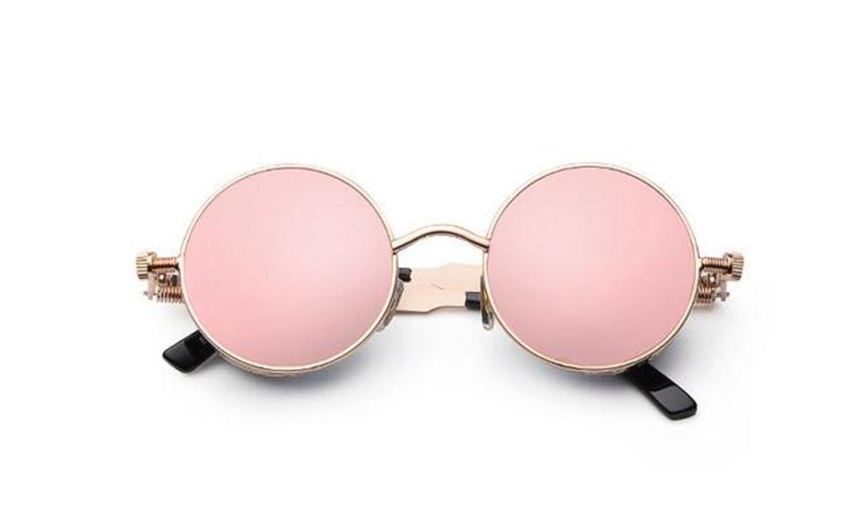 Sucastle, Classic, Dampf, Punk, Sonnenbrille, europäisch, rund, Persönlichkeit, reflektierende, Sonnenbrille, Sonnenbrille, Männer und Frauen, Metall,