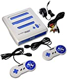 Retro-Bit Super RetroTRIO Console NES/SNES/Genesis 3 in 1 System, White/Blue