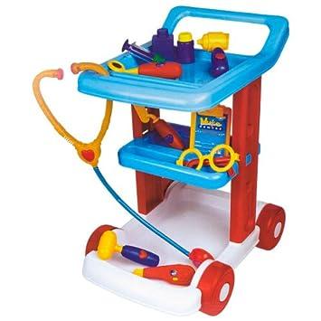 Logitoys 1094CT - Carrito de médico con accesorios de juguete: Amazon.es: Juguetes y juegos