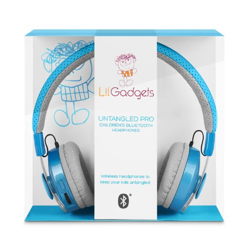 LilGadgets Untangled Pro Children's Wireless Bluetooth Headphones Blue, Best Gadgets