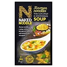 6X Naked Noodle Ramen Thai Coconut & Lemongrass Soup 25g