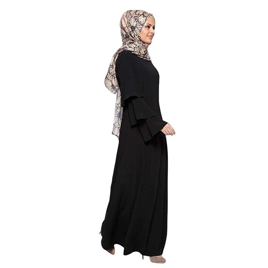 Deylaying Muslim Women Kaftan Islamic Middle East Turkey Dress Abaya Dubai Robe at Amazon Womens Clothing store: