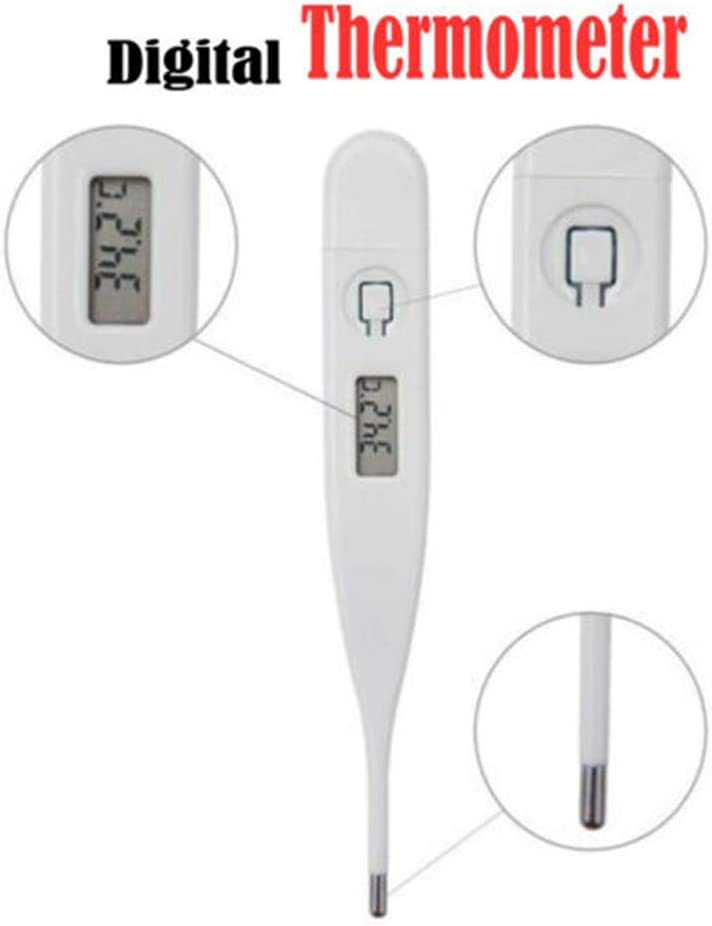Accurate and Fast 10 Seconds Reading with Fever Indication Rectal Thermometer for Baby Kids and Adults Forart Digital Thermometer for Fever