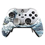 eXtremeRate Patterned Front Housing Shell Faceplate for Xbox One Elite Controller with Thumbstick Accent Rings (The Great Wave) Review