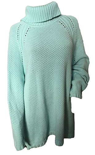 (Talbots Blue Seed Stitch Turtleneck Mock Sweater Pullover Size 3 X)