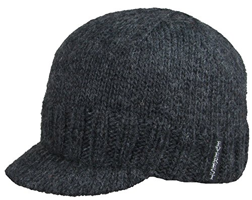 (Everest Designs Unisex Knit Cap Visor, Charcoal, One Size)