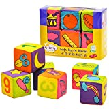 Itty-Bitty Kids Building Soft Blocks Set for babies and toddlers pack of 6