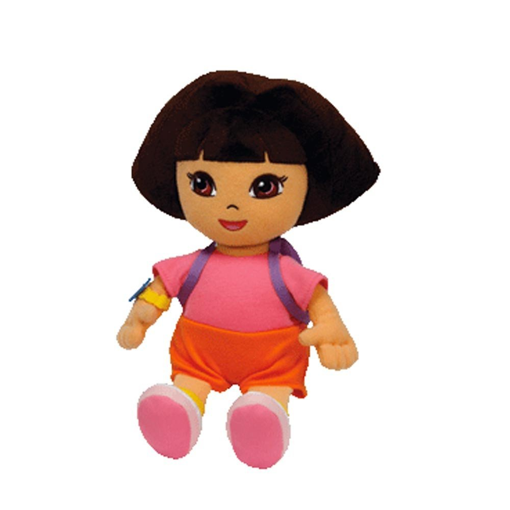 Amazon.com  Ty Beanie Baby Dora the Explorer (Styles and Colors may vary)   Toys   Games 27a5db1797d