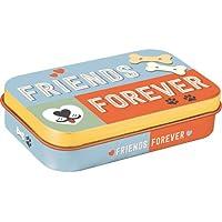 Nostalgic-Art 82203 tabliczka z motywem łapy - Friends Forever pojemnik na pyszności w podróży, wielobarwny