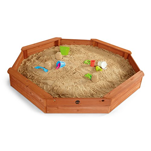 Plum-Kinder-gigantischer-Sandkasten-achteckig-mit-4-Sitzbnken-25058