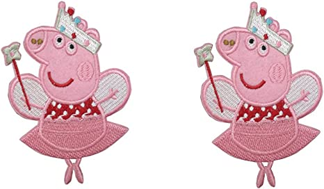 pig iron on patch Cute pig embroidered iron on applique