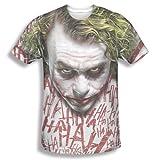 Dark Knight Trilogy - Men's T-Shirt Joker face design , Medium, White