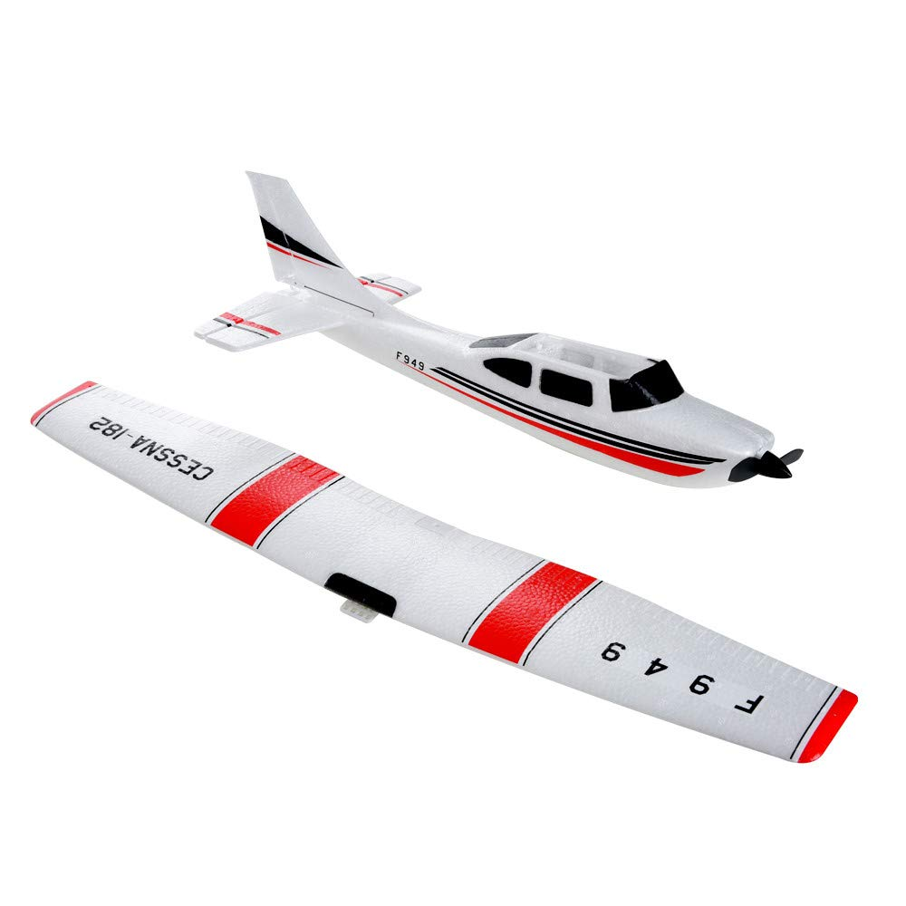 Remote Control Airplane for Beginners &Intermediate Flight Game Players F949 3CH 2.4G RC Airplane RTF Glider EPP Composite Material 14+,Designed According To Cessna-182 Plane (White) by succeedtop ❤️ Ship from US ❤️ (Image #9)