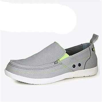 ZHRUI Suela cómoda Antideslizante Transpirable para Hombre, con Suela cómoda, en Alpargatas de Zapatos para Yates (Color : Gris, tamaño : EU 40): Amazon.es: ...