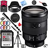 Beach Camera Sony FE 24-105mm F4 G OSS E-Mount Full-Frame Zoom Lens (SEL24105G) with Sony 32GB Memory Card Plus 77mm Filter Sets and Accessories Bundle